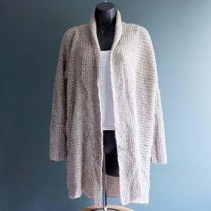 pink rose sweater grey beige color SZ S